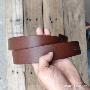 Thắt lưng nam da bò, Màu nâu, Pullup leather 9