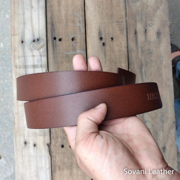 Thắt lưng nam da bò, Màu nâu, Pullup leather 4
