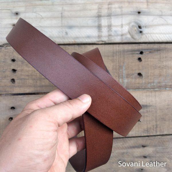 Thắt lưng nam da bò, Màu nâu, Pullup leather 8