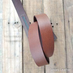 Thắt lưng nam da bò, Màu nâu, Pullup leather 12