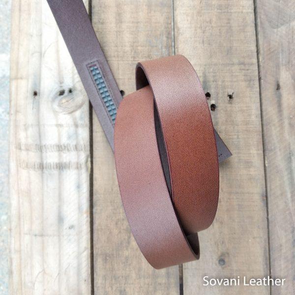 Thắt lưng nam da bò, Màu nâu, Pullup leather 7
