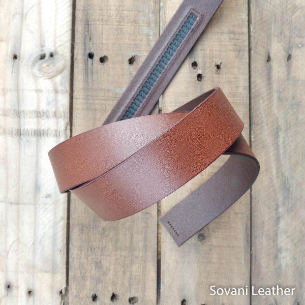 Thắt lưng nam da bò, Màu nâu, Pullup leather 3
