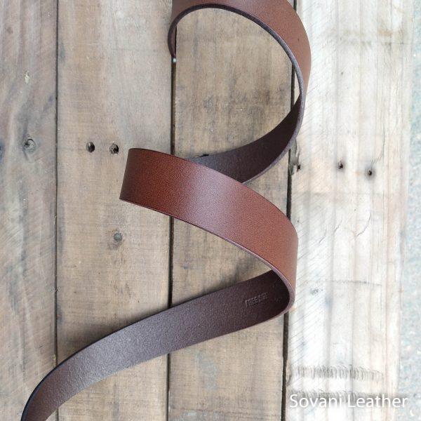 Thắt lưng nam da bò, Màu nâu, Pullup leather 6