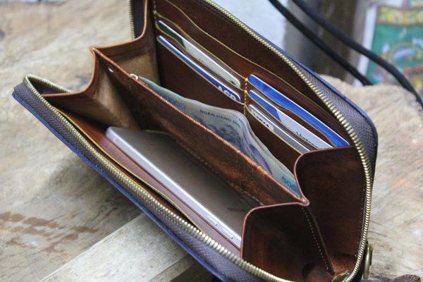 Clutch Nam cao cấp Handmade da Veg 7