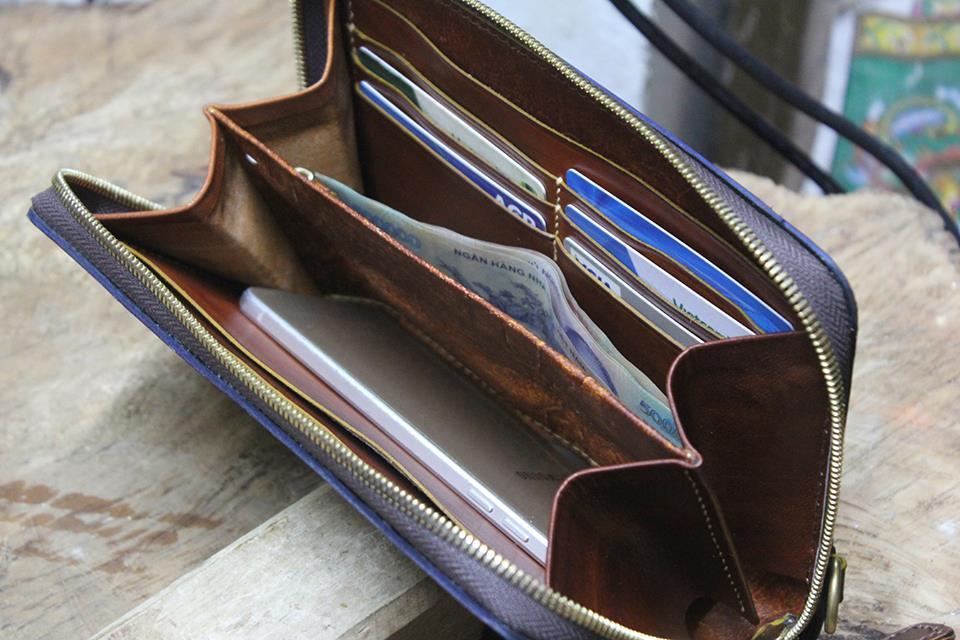 Clutch Nam cao cấp Handmade da Veg 33