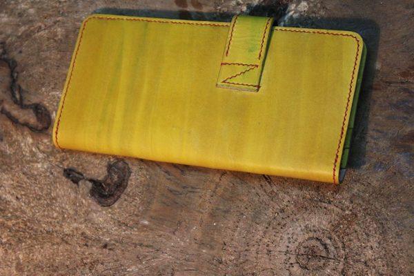 Ví nữ dáng dài - Handmade với chất liệu da bò thật 100% 9