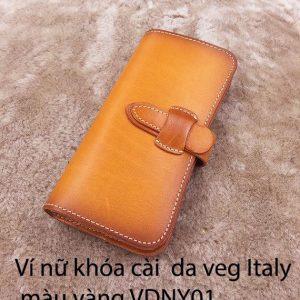 Ví cầm tay Nữ khóa cài Veg Italy Handmade 11