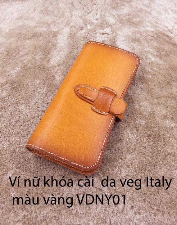 Ví cầm tay Nữ khóa cài Veg Italy Handmade 7