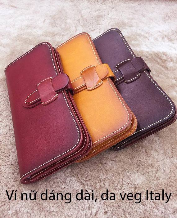 Ví cầm tay Nữ khóa cài Veg Italy Handmade 3