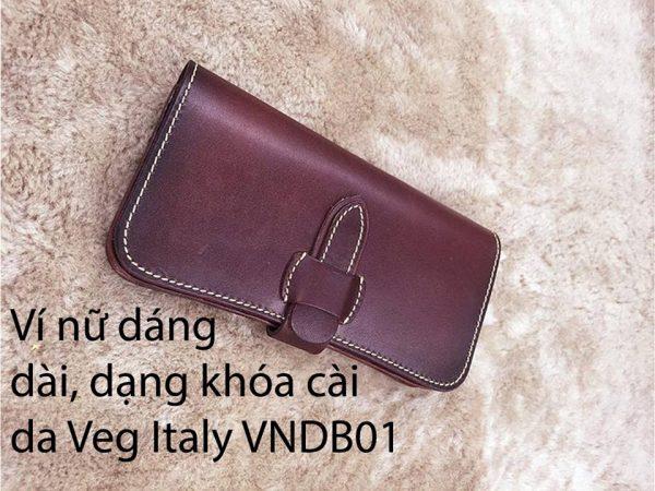 Ví cầm tay Nữ khóa cài Veg Italy Handmade 4
