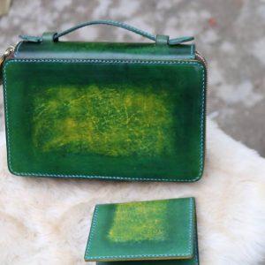 Zip đôi Handmade hàng Khách Order - Xanh Rêu 12