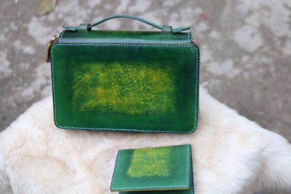 Zip đôi Handmade hàng Khách Order - Xanh Rêu 7