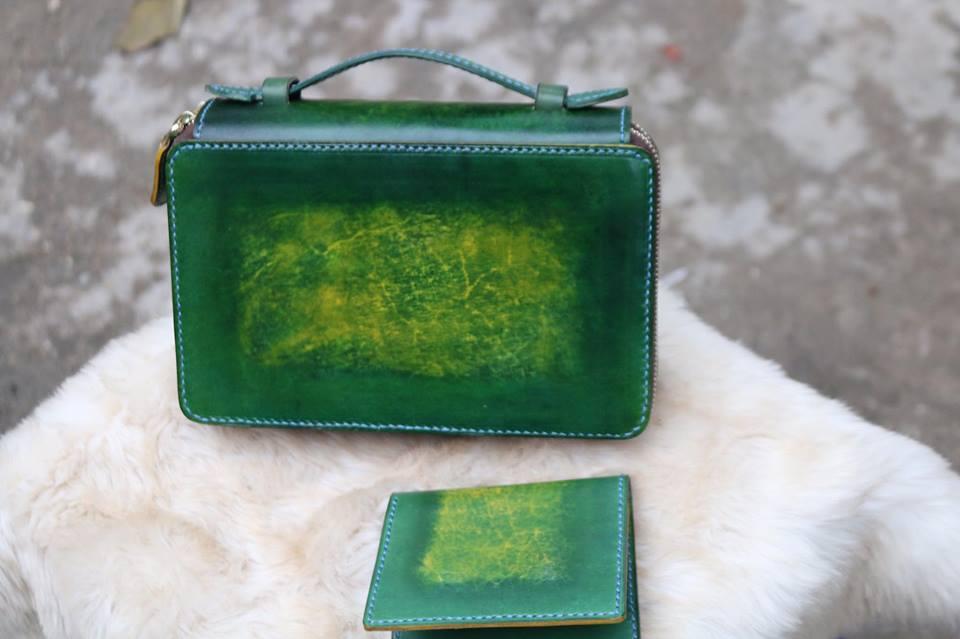 Zip đôi Handmade hàng Khách Order - Xanh Rêu 15