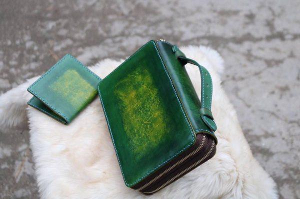Zip đôi Handmade hàng Khách Order - Xanh Rêu 6
