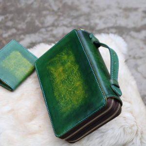 Zip đôi Handmade hàng Khách Order - Xanh Rêu 13