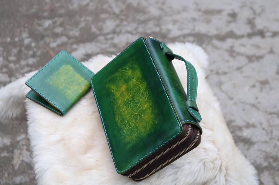 Zip đôi Handmade hàng Khách Order - Xanh Rêu 14