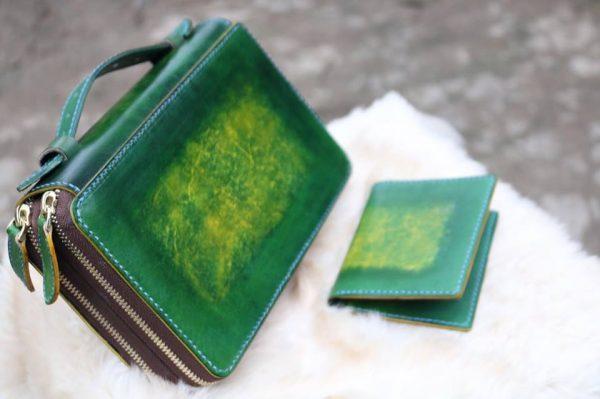 Zip đôi Handmade hàng Khách Order - Xanh Rêu 5