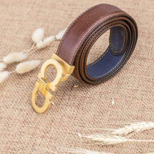 Thắt lưng nam handmade, vachetta ognac 11