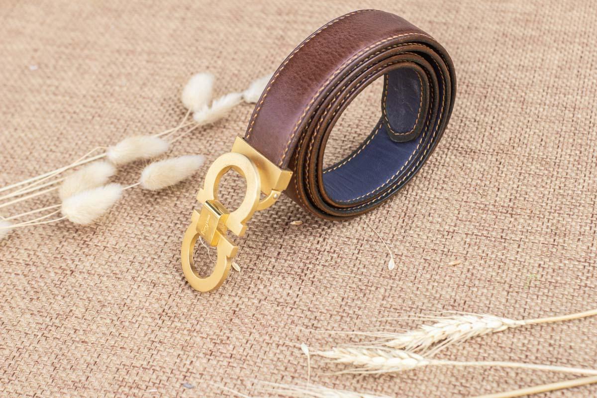 Thắt lưng nam handmade, vachetta ognac 21
