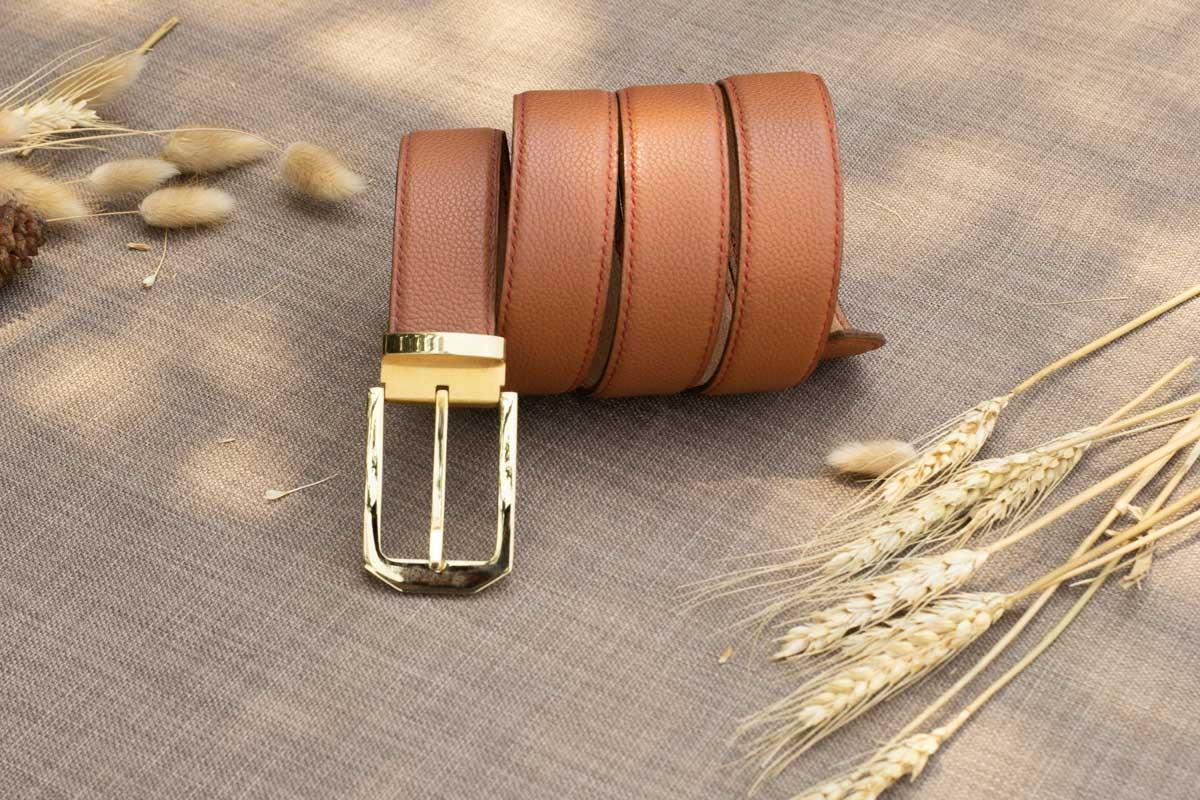 Thắt lưng nam handmade, da bò mill 17