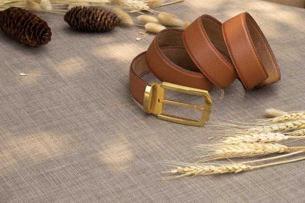 Thắt lưng nam handmade, da bò mill 5