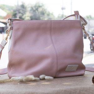 Túi xách nữ cỡ lớn, màu hồng sữa 15