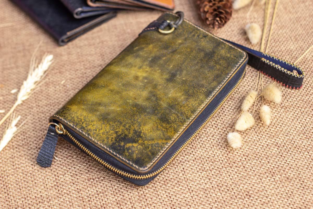 Cluth nam nữ handmade vàng rêu 18