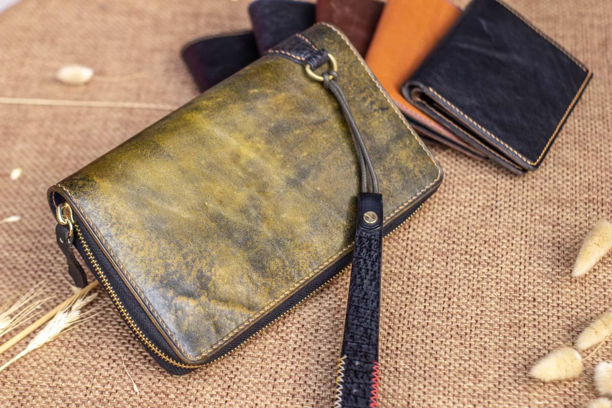 Cluth nam nữ handmade vàng rêu 16