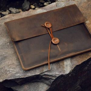 Túi da handmade đựng Macbook, Laptop Surface 14