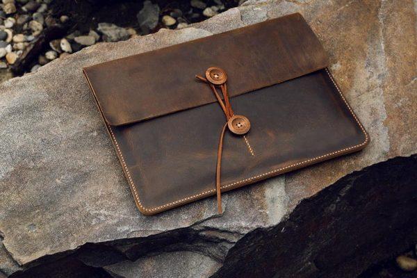 Túi da handmade đựng Macbook, Laptop Surface 8