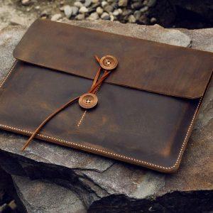 Túi da handmade đựng Macbook, Laptop Surface 11