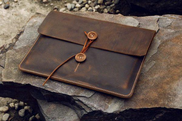 Túi da handmade đựng Macbook, Laptop Surface 2