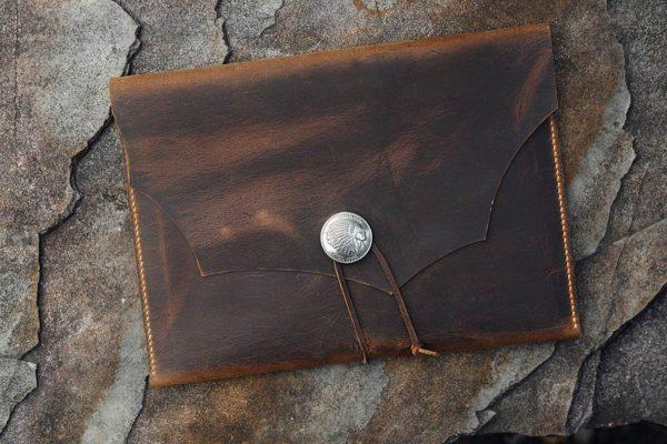 Túi da handmade đựng Macbook, Laptop Surface 4