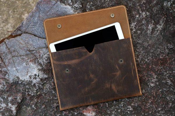 Túi da handmade đựng Macbook, Laptop Surface 3