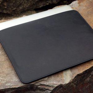 Túi da handmade đựng Macbook, Black color 12