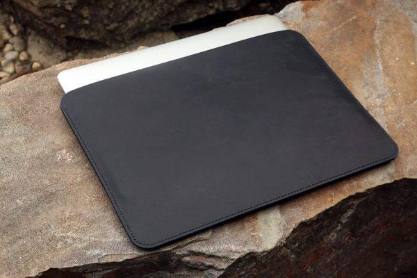 Túi da handmade đựng Macbook, Black color 7