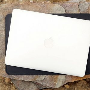 Túi da handmade đựng Macbook, Black color 11
