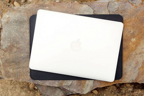Túi da handmade đựng Macbook, Black color 6