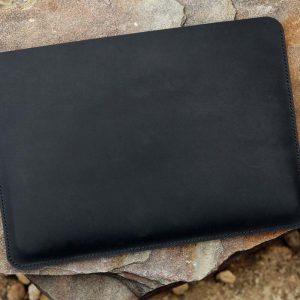 Túi da handmade đựng Macbook, Black color 10
