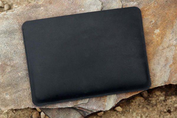 Túi da handmade đựng Macbook, Black color 5