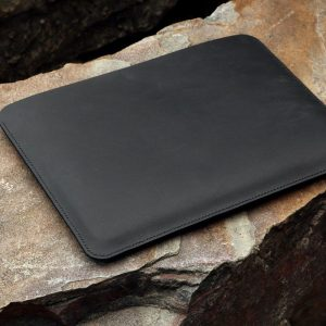 Túi da handmade đựng Macbook, Black color 9