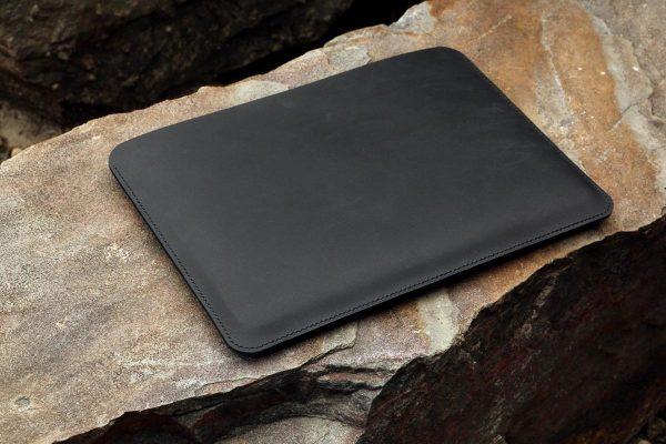 Túi da handmade đựng Macbook, Black color 3