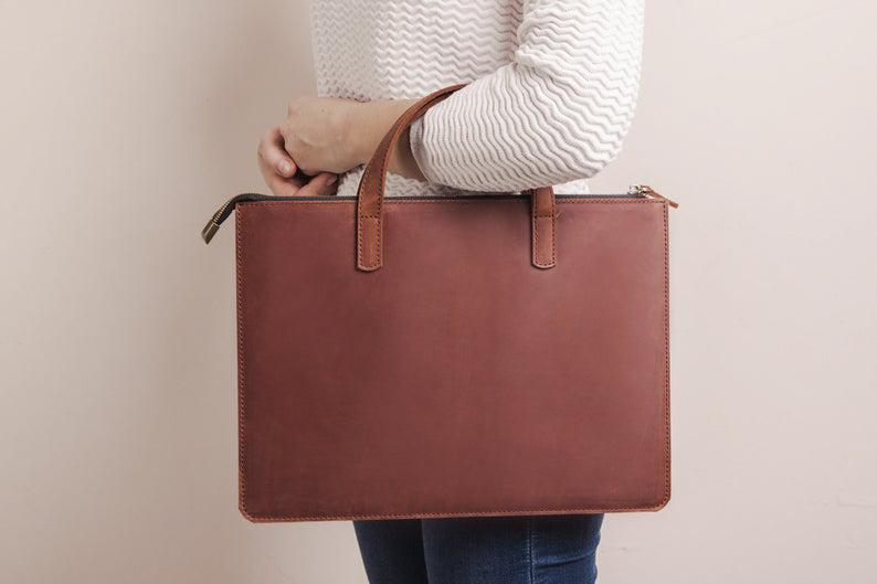 Túi da handmade đựng Macbook Pro 15 14