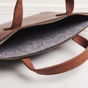 Túi da handmade đựng Macbook Pro 15 12