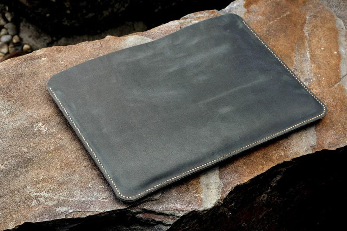 Túi da Macbook handmade, Crazy horse 16