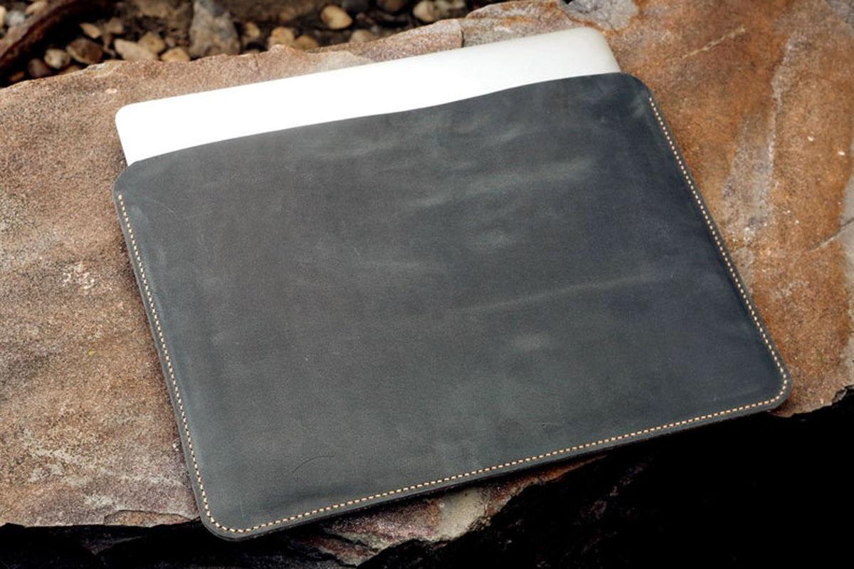 Túi da Macbook handmade, Crazy horse 20