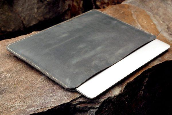 Túi da Macbook handmade, Crazy horse 4