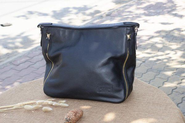 Túi xách nữ cỡ lớn, màu đen 8