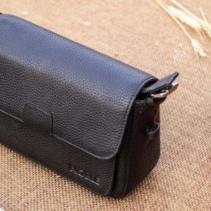 Túi xách nữ da thật cỡ nhỏ, màu đen 15