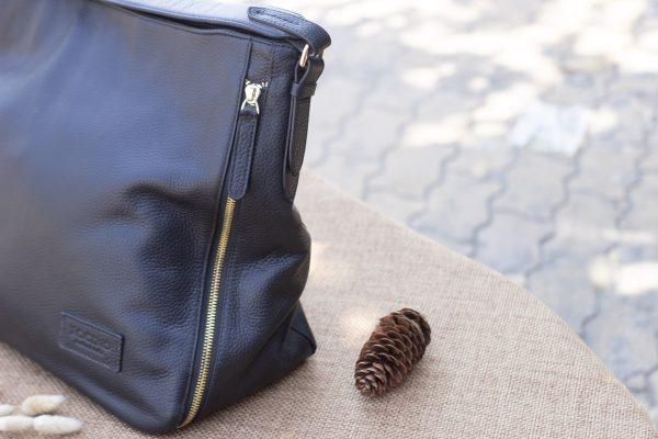 Túi xách nữ cỡ lớn, màu đen 6